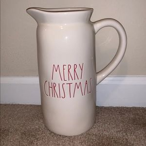Rae Dunn merry Christmas pitcher